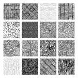 Seamless pattern of rough hatching grunge texture Stock Photo