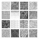 Seamless pattern of rough hatching grunge texture Stock Images