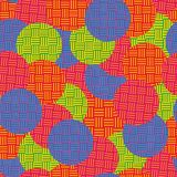 Seamless pattern with round elements. Geometrical stock illustration