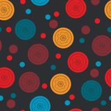 Seamless pattern with round elements. Geometrical Stock Photos