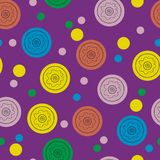 Seamless pattern with round elements. Geometrical vector illustration