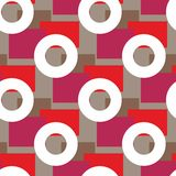 Seamless pattern with round elements. Geometrical royalty free illustration