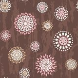Seamless pattern with round flowers Royalty Free Stock Photos