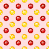 Seamless pattern with round gemstones Royalty Free Stock Photography