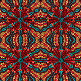 Seamless Pattern with Round Ornament Royalty Free Stock Images
