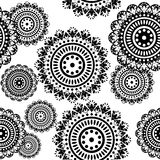 Seamless pattern of round ornaments Royalty Free Stock Photography