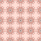Seamless pattern with round ornaments Stock Photos