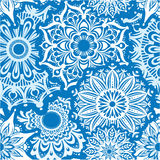 Seamless pattern of round ornaments Royalty Free Stock Image