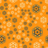 Seamless pattern, round shapes background vector, seamless ornate tile for gift wrapping paper Royalty Free Stock Photos