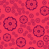 Seamless pattern , round shapes on pink background vector, seamless ornate tile for gift wrapping paper Royalty Free Stock Images