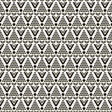 Seamless pattern of round and triangular shapes Royalty Free Stock Image