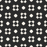 Seamless pattern. Rounded shapes, circles, crosses. Royalty Free Stock Photos