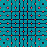 Seamless pattern of rounded squares Stock Photography