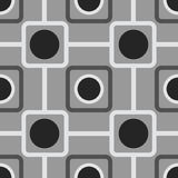 Seamless pattern with rounded squares Stock Photo