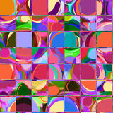 Seamless pattern with row of grunge stained and st Stock Photography