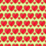 Seamless Pattern With Row of Heart Stock Photography