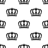 Seamless pattern of royal crowns Stock Photo