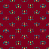 Seamless pattern of royal lilies Royalty Free Stock Images