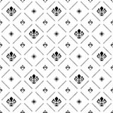 Seamless Pattern With Royal Lily Royalty Free Stock Image