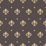 Seamless Pattern With Royal Lily Stock Photography