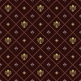 Seamless Pattern With Royal Lily Royalty Free Stock Photography