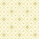 Seamless Pattern With Royal Lily Stock Images