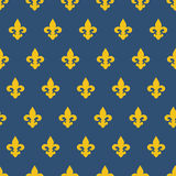 Seamless pattern with royal lily texture Stock Photos