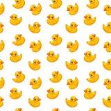 Seamless pattern rubber duck toy, vector illustration, cartoon vector illustration