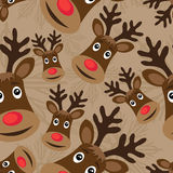 Seamless pattern with rudolph Stock Image