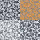 Seamless pattern rugby ball Royalty Free Stock Image