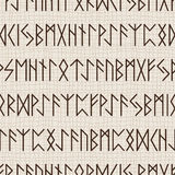 Seamless pattern of runes Royalty Free Stock Images