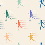 Seamless pattern runners Stock Photos
