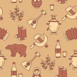 Seamless pattern of Russian icons Royalty Free Stock Images