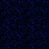 Seamless pattern of Russian national ornament on black background. Seamless pattern of Russian national ornament Gzhel on black background. Ornament in the vector illustration