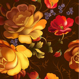 Seamless pattern in Russian Zhostovo style. Royalty Free Stock Photography