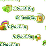 Seamless pattern -  Saint Patrick day Theme background Royalty Free Stock Photography