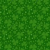 Seamless pattern with Saint Patricks shamrock leaves Stock Image