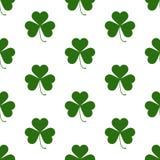 Seamless pattern with Saint Patricks shamrock symbols Royalty Free Stock Photography