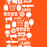 Seamless pattern with sale and shopping icons Royalty Free Stock Photos