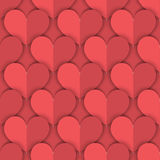 Seamless Pattern of Salmon Paper Hearts. Seamless Background of Salmon Color Hearts Made in Paper-Like Design. Can be Used as an Template, Book Cover or in Web Stock Photography