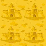 Seamless pattern. sandcastles. Stock Photography