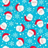 Seamless pattern. Santa Claus on a blue background. Santa Claus on a blue background. Seamless pattern stock illustration
