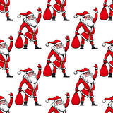 Seamless pattern with Santa Claus Stock Images