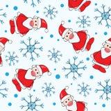 Seamless pattern santa claus Royalty Free Stock Photo