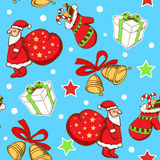 Seamless pattern with Santa Claus and gifts Royalty Free Stock Photography