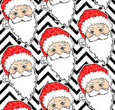 Seamless  pattern with Santa Claus. Merry Christmas and Happy New Year background. Beautiful winter backdrop. Inscription about Xmas 2017.Cartoon Santa Stock Images