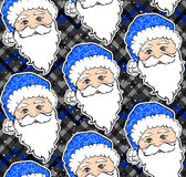 Seamless  pattern with Santa Claus. Royalty Free Stock Photography