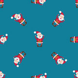 Seamless pattern with Santa Claus royalty free stock photo