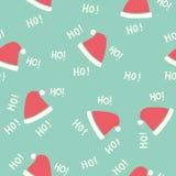 Seamless Pattern. Santa Hat. Christmas Cute Background Design Stock Image