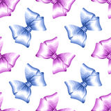Seamless pattern with satin bows Royalty Free Stock Photos